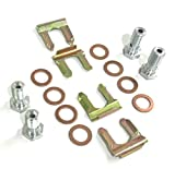 The Stop Shop 10 mm and 7/16' Banjo Bolt and Copper Crush Washer Kit. Flex Hose Clips Included