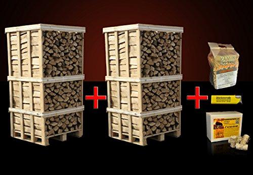 4 Raummeter Buchen-Kaminholz + 5kg Anzündholz + 32 Anzünder inkl. Versand