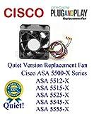 1x Quiet Version Extra-Cooling Plug-and-Play Replacement Fan Cisco ASA 5500-X Series ASA 5512-X ASA 5515-X ASA 5525-X ASA 5545-X ASA 5555-X