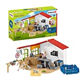 Schleich Farm World 27-piece Vet Practice Playset with Animal Toys for Kids Ages...