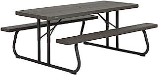comprar comparacion LIFETIME 60112 - Mesa con bancos plegable ultrarresistente 183x76x74 cm UV100 marrón