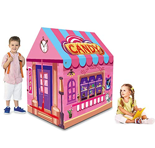 Ydq Kids Play Tent, Candy Shop Houses Great Tractor Toy, Sun Shelter Playhouse | Den for Indoor Outdoor Garden Gazebo for Children Camping Picnic Travel