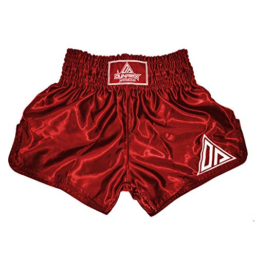 Dynamix Athletics Muay Thai Shorts Origin Burgundy - Traditionelle Klassische Thaibox Hose für Herren (S)