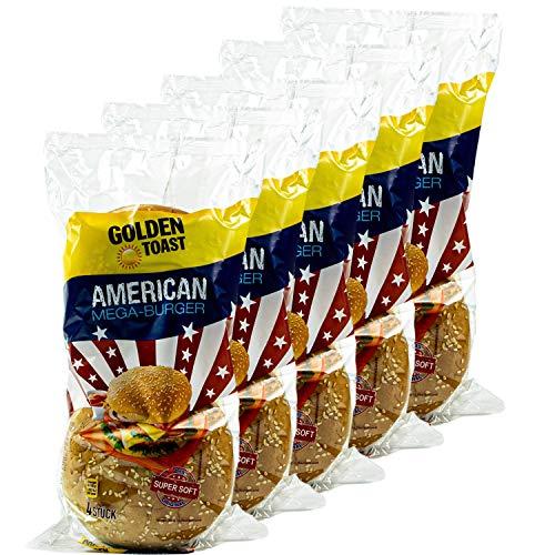 Golden Toast - 5er Pack American Mega-Burger Brötchen