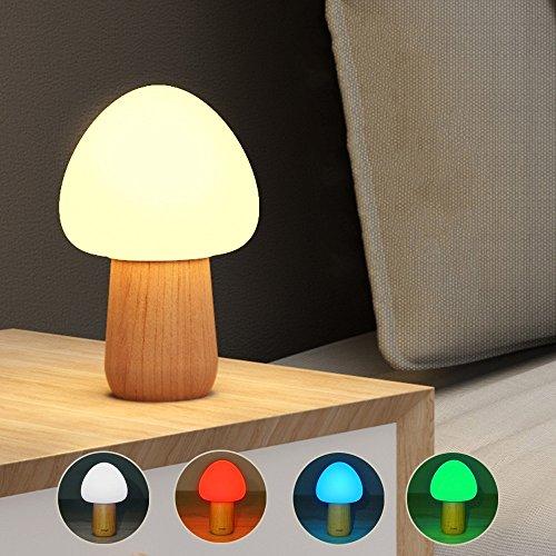 DANQI High Quality Dekoratives Licht 1W Pilzform buntes Licht LED Dekoration Lampen-Neuheit-Geschenk-Nachtlicht-Lampe mit Fernbedienung und 3 Ebene Helligkeit Mode Home Improvement