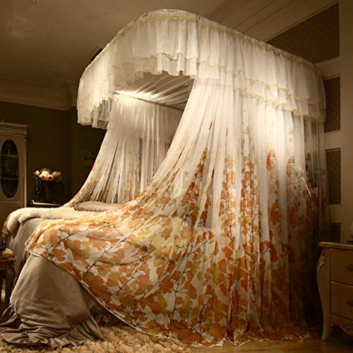 Save %41 Now! Luxury Canopy Net,lace Bed Canopy Curtain Netting,Premium Lightweight Bed Drapes with ...