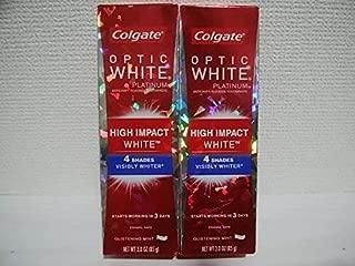 Colgate Optic White High Impact White 3oz 85g 歯磨き粉 3個セット [並行輸入品] vc*f