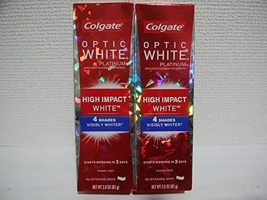 うぬぼれアラスカ話すColgate Optic White High Impact White 3oz 85g 歯磨き粉 3個セット [並行輸入品] h%v