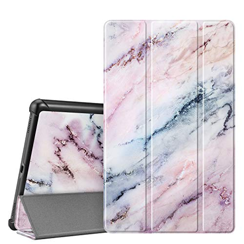 FINTIE SlimShell Case for Samsung Galaxy Tab A 10.1 2019 Model SM-T510/SM-T515, Super Thin Lightweight Stand Cover for Samsung Galaxy Tab A 10.1 Inch Tablet 2019 Release, Marble Pink