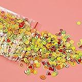 Nowakk 1000 unids/Set Pegatinas 3D para decoración de uñas Fruta Estrella Lazo Flor cerámica Suave DIY Rebanada pequeña decoración decoración calcomanías para uñas - Colorido