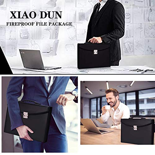 Fireproof Waterproof Document Bag 24 Pockets Expanding File Folder/Accordian File Organizer with Expandable Cover/Portable Lock Code A4 Letter Size File Box,Colored Paper Document Receipt Organizer Photo #4
