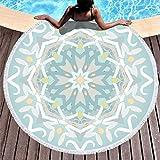 Knowikonwn Mandela - Toalla de playa (microfibra, tamaño grande, 150 cm), diseño de Mandela Art, Blanco, 59 inch