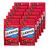Luden's Cough Drops, Sugar Free Wild Cherry, 25 Drops, Pack of 12