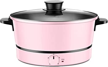 3L Portable Electric Cooker Multifunction Kitchen Frying Pan with Glass Lid and Adjustable Thermostat 1200W Suitable for H...