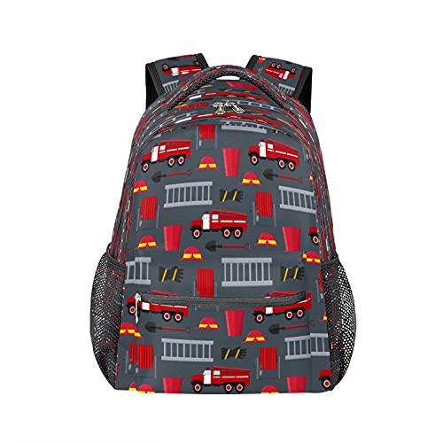 Mochila de bomberos para camiones y portátiles, resistente al agua, para colegio, escuela, para viajes, senderismo, camping, bolsa de hombro para mujeres y hombres