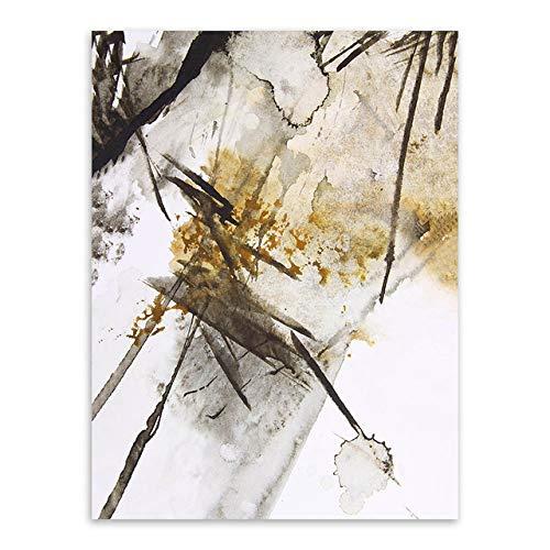 LiMengQi2 Retro Wohnzimmer Dekoration Moderne abstrakte Druck wandbild malerei rahmenlose Vintage Chinesische Tinte leinwand A4 Kunst Poster (Kein Rahmen)