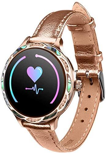 SHIJIAN Reloj inteligente de moda femenina, recordatorio de período menstrual, reloj de pulsera de ejercicio a prueba de agua con frecuencia cardíaca para mujer, regalo para mujer