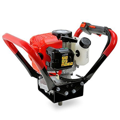 XtremepowerUS V-Type 55CC 2 Stroke Gas Post Hole Digger One Man Auger EPA Machine Plant Soil Digging Fence