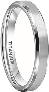 iTungsten 4mm 6mm 8mm 10mm Silver/Black/18K Gold/Rose Gold/Gunmetal Titanium Rings for Men Women Engagement Wedding Bands ...