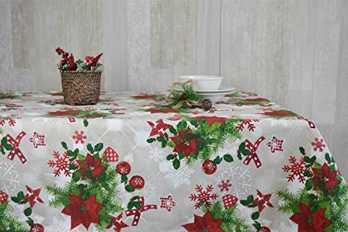 Cieffepi Home Collections Aspen Tovaglia Natale Natalizia (140 x 180 cm)