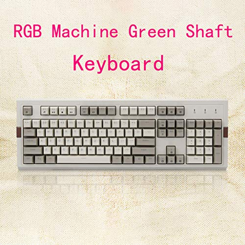 NEW! BB67 USB Wired Gaming Retro Mechanical Keyboard RGB Backlight 104Keys, Console Game Online Game Best Matched Keyboard