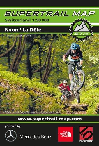 Supertrail Map ( STM) Nyon / La Dôle ( Schweiz, Waadt, Jura), Versoix, Gex, Cessy, Arzier, Les Rousses, Morbier, Morez, Genfersee, St.-Cergue, Mont Sala, Mountainbike-Karte, Bike-Karte 1:50.000, Wasser- und reißfest, Outkomm GmbH