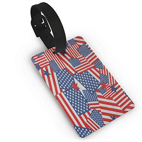 Luggage Tags American Flag Fireworks Suitcase Name Tag Holder Labels Größe 2.2 x 3.7 Zoll M32501