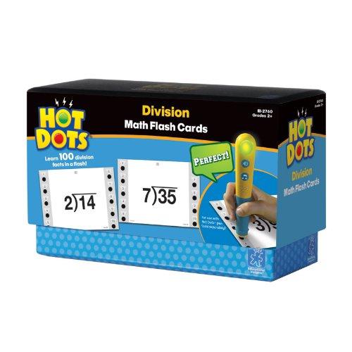 Educational Insights Hot Dots Math Flashcards- Division