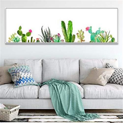 Zuoyun 5D DIY Pittura Diamante Kit Completo Cactus Verde Taglia Grande Diamond Painting Strass Ricamo Set Completo Drill Diamond Pittura a Mosaico Decorazione da Parete Trapano Rotonda 50x150cm Y4092