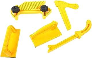 Säkerhet Push Block Stick Board Set, 5-delat träbearbetningsverktyg för routerbord, gul färg, perfekt för träarbetare och ...