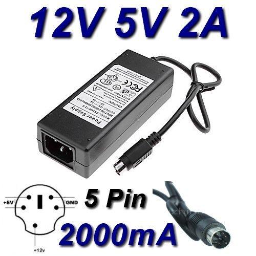TOP CHARGEUR * Netzteil Netzadapter Ladekabel Ladegerät 12V 5V 2A 5 Pin für Ersatz Jentec Technology CO LTD JTA0202Y