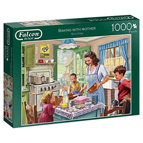 Jumbo 11245 Falcon de Luxe-Baking with Mother Puzzle, 1000 Teile, Multi