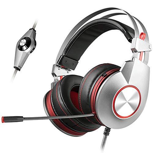 QJGhy Casque de Jeu 7.1 Surround Soundtrack Over Ear Headphones avec Micro pour PC/Ordinateur Portable Casque de Jeu