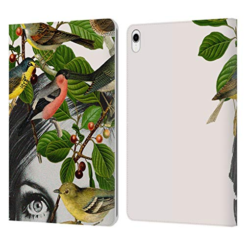 Head Case Designs Officially Licensed Desiree Feldmann Twiggy Eyes Floral Portraits Leather Book Wallet Case Cover Compatible With Apple iPad Pro 11 (2018)