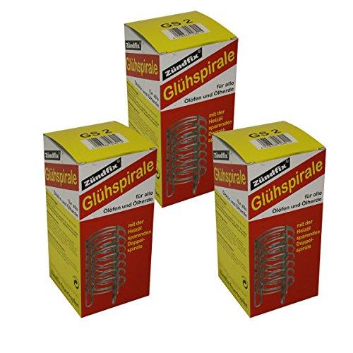 Set 3x Zündfix Glühspirale GS2 bis einschliesslich 5000 WE