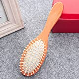1 pieza de peine de madera, cojín antiestático profesional para la pérdida de cabello, cepillo electrónico, peine para el cuero cabelludo, cuidado del cabello, peine de bambú saludable, Estados Unido
