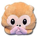 EKNA Emoticon Emoji-con emotikon cuscino cuscino del divano peluche morbido con selezione Smiley scimmie fantasma kacki haufen mucchi Affe Mund zu