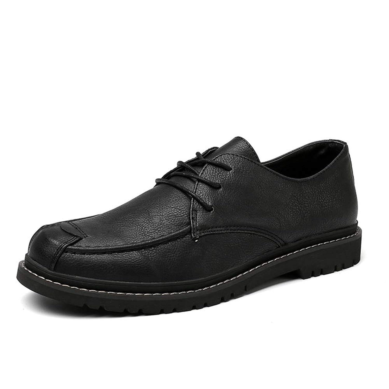 [Jusheng-shoes] メンズシューズ メンズフォーマルシューズオックスフォードシューズレースピュアカラーOXレザー カジュアルシューズ