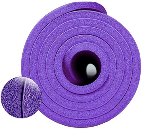 Esterillas Yoga Antideslizante La Cojín Fuerte De Alta Densidad De Alta Densidad, Una Fuerte Amortiguación, Fácil De Transportar, Se Puede Colgar El Entrenamiento Del Gimnasio En Casa, Púrpura EIIDJFF
