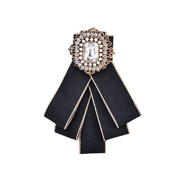 Fenni Ladies Girl Bowknot Bow Tie Suit Shirt Tie Pins Necktie Pin Brooch Pre-tied Bow