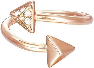 خاتم مجزا للنساء من اسبريت JW50214 لون وردي مرصع بزجاج ابيض - ESRG02865°C