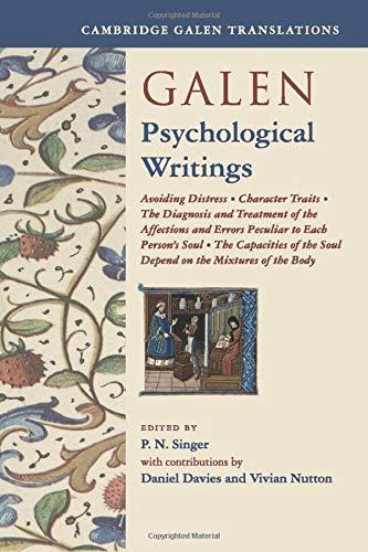 Galen: Psychological Writings (Cambridge Galen Translations)