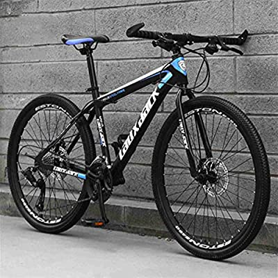 Jaceyon Mountain Bike 26-inch Outdoor Sports, Aluminum Frame, 21-Speed Rear Derailleur, Suitable for Men and Women Cycling Enthusiasts -US Stock (Black-Blue)