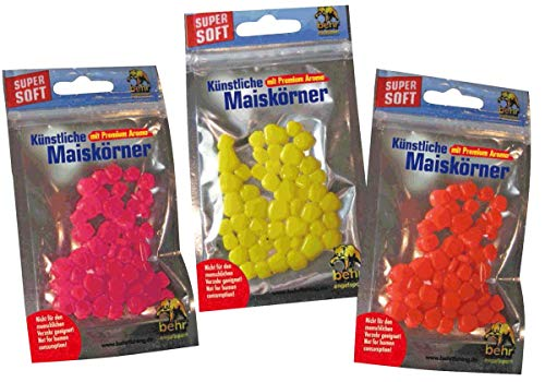 Behr Mais Imitat künstliche Maiskörner für Karpfen, Farbe:ROT