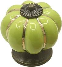 Furniture Handle Ceramic Pumpkin Shape Retro Chic Cupboard deurkruk ladeblok laden Knoppen handgrepen for Kasten Drawers (...