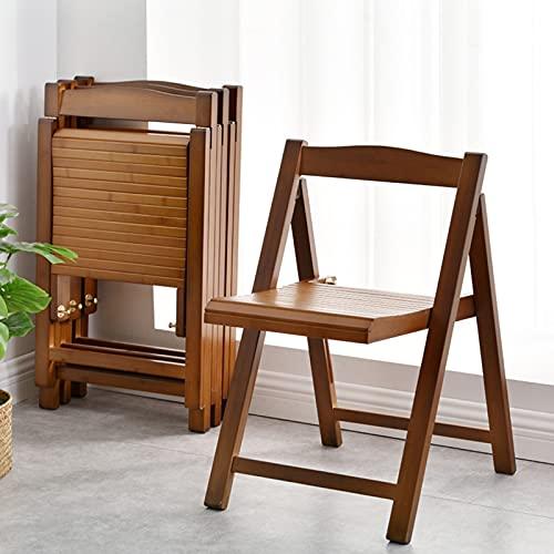 Chair QL Silla De Comedor Plegable De Madera Maciza Retro Marrón, Silla De Comedor Duradera Y Fácil De Limpiar, Fácil De Llevar Al Salir, Tamaño Reducido