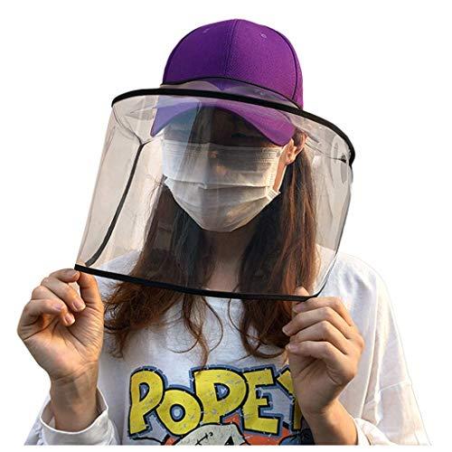 WINNNGOO Unisex Anti-Spuck-Schutzhutabdeckung Anti-Fog-Staub Influenza-Schutzkappe Gesichtsmasken Außen-Baseballkappe Einstellbare Größe Abnehmbarer Riemen Sonnenschutz Atmungsaktive, bequeme Hüte L
