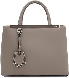 Fendi 2 Jours Dove Beige Calf Leather Shopping Tote Cross Body Handbag 8BH253
