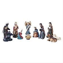 3cm Manger Statues Sculptures Set Religious Ornaments Holy Child Nativity of Jesus Resin Craft