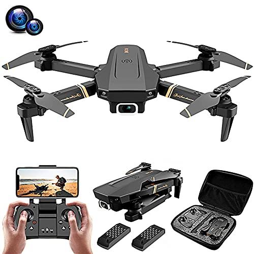 POTIKA V4 Mini Drone Quadricóptero RC Com Câmera 4K HD Para Grandes ângulos, 1080P Wifi Quadrotor RC 15 mins 360 ° Flip 6-Axis Gyro Altitude Mantenha Controle Remoto Sem Cabeça, 2 Bateria